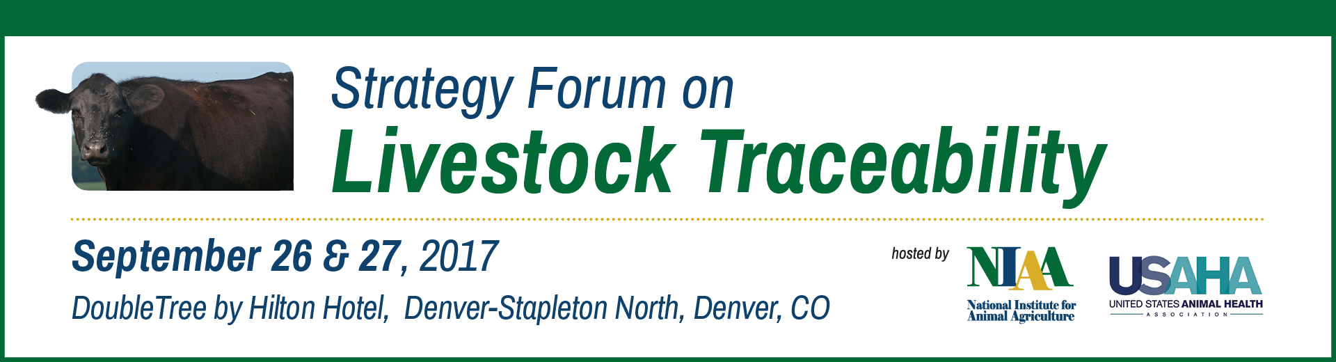 Strategy Forum on Livestock Traceability